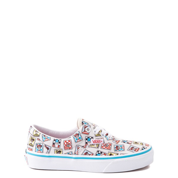 Main view of Vans x Where's Waldo Era Postage Skate Shoe - Little Kid - White