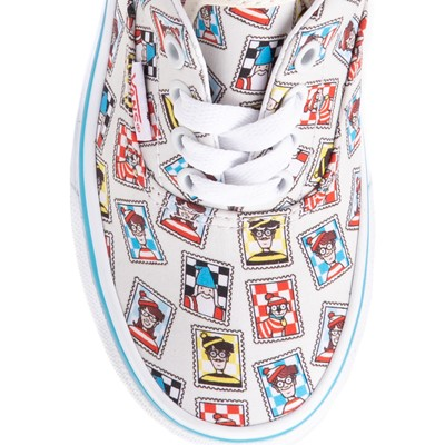 Alternate view of Vans x Where's Waldo Era Postage Skate Shoe - Little Kid - White