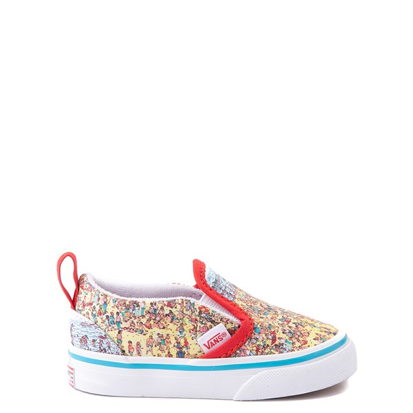 Main view of Vans x Where's Waldo Slip On V Beach Skate Shoe - Baby / Toddler - Multicolor