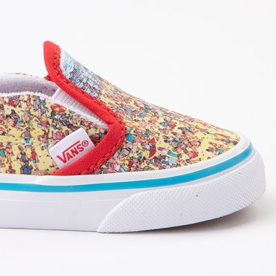 Alternate view of Vans x Where's Waldo Slip On V Beach Skate Shoe - Baby / Toddler - Multicolor