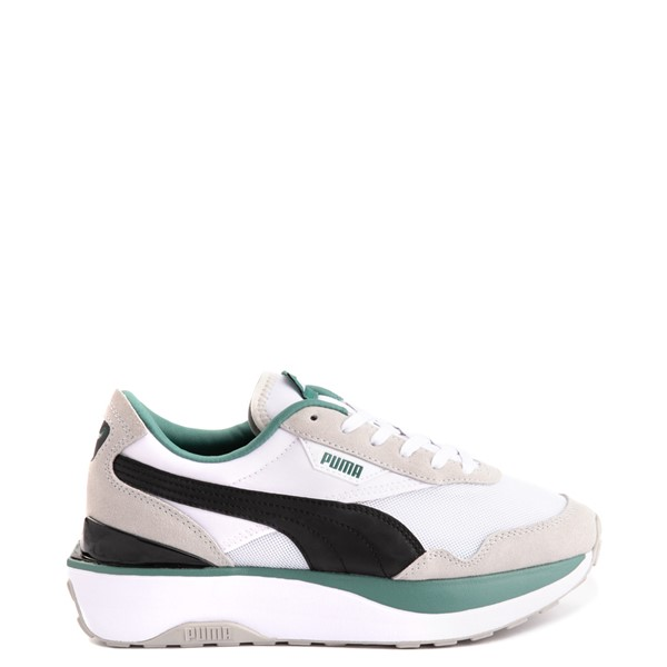 Main view of Womens Puma Cruise Rider Platform Athletic Shoe - White / Black / Aquamarine