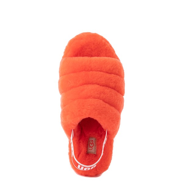 alternate image alternate view Womens UGG® Fluff Yeah Slide Sandal - Red CurrantALT2