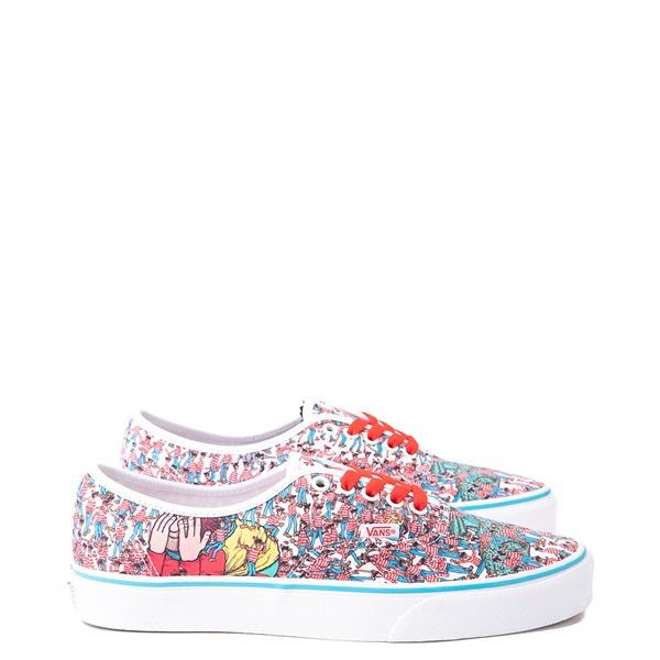 Main view of Vans x Where's Waldo Authentic Land Of Waldos Skate Shoe - White / Red