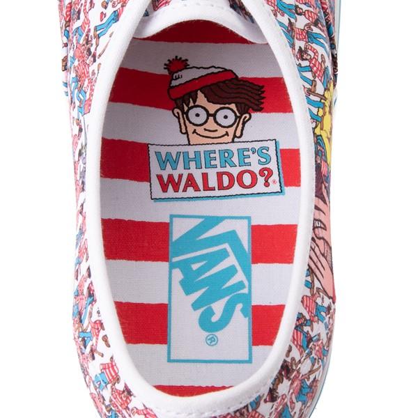 alternate image alternate view Vans x Where's Waldo Authentic Land Of Waldos Skate Shoe - White / RedALT2B