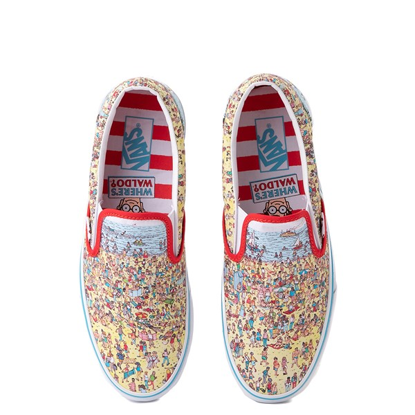 Main view of Vans x Where's Waldo Slip On Beach Skate Shoe - Multicolor