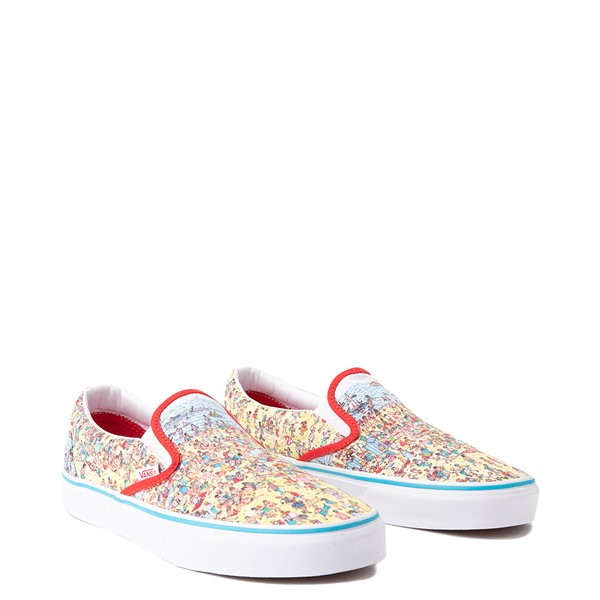 alternate image alternate view Vans x Where's Waldo Slip On Beach Skate Shoe - MulticolorALT5