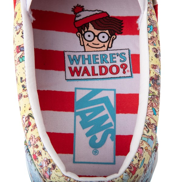 alternate image alternate view Vans x Where's Waldo Slip On Beach Skate Shoe - MulticolorALT6