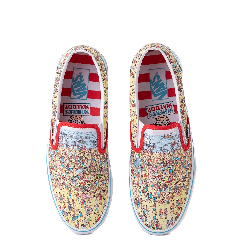 Vans x Where's Waldo Slip On Beach Skate Shoe - Multicolor