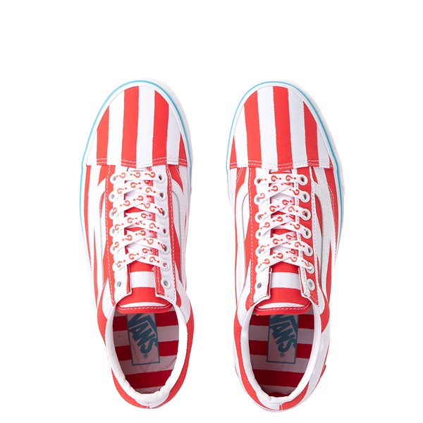 alternate image alternate view Vans x Where's Waldo Old Skool International Stripes Skate Shoe - White / RedALT2