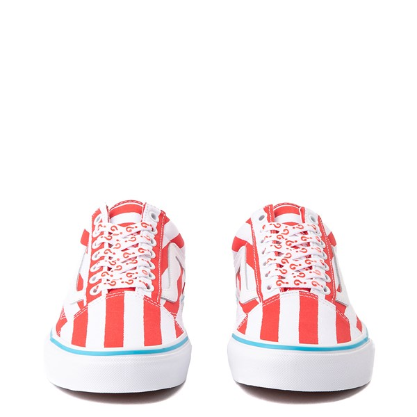 alternate image alternate view Vans x Where's Waldo Old Skool International Stripes Skate Shoe - White / RedALT4