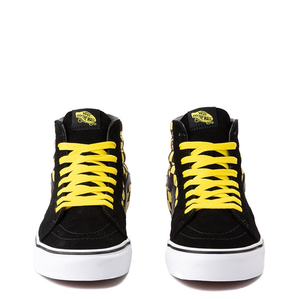 alternate image alternate view Vans x Where's Waldo Sk8 Hi Odlaw Checkerboard Skate Shoe - Black / YellowALT4
