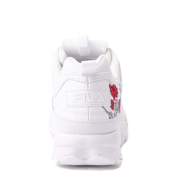 alternate view Womens Fila Disruptor 2 Floral Athletic Shoe - WhiteALT4