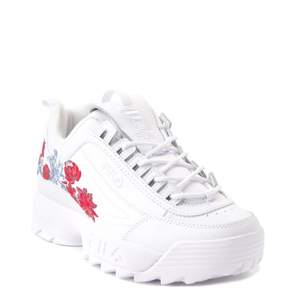 alternate view Womens Fila Disruptor 2 Floral Athletic Shoe - WhiteALT5
