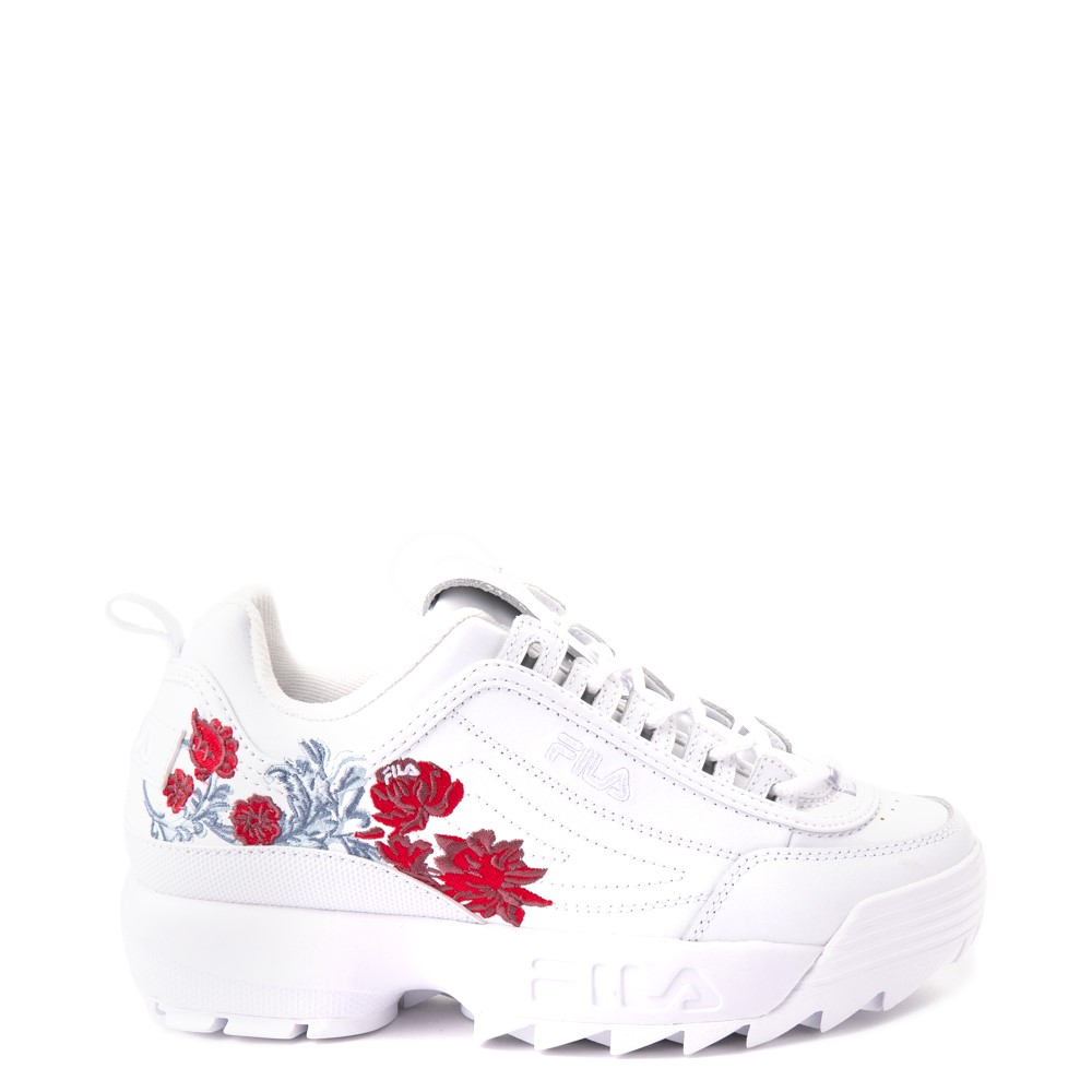 Womens Fila Disruptor 2 Floral Athletic Shoe - White