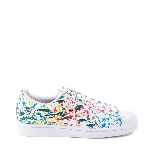 Main view of adidas Superstar Paint Splatter Athletic Shoe - White