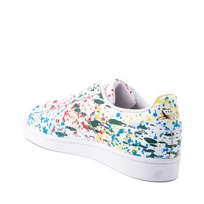 Alternate view of adidas Superstar Paint Splatter Athletic Shoe - White