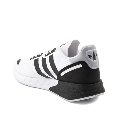 Alternate view of Mens adidas ZX 1K Boost Athletic Shoe - White / Black