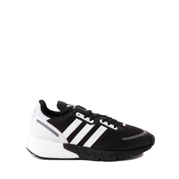 Main view of Mens adidas ZX 1K Boost Athletic Shoe - Black / White