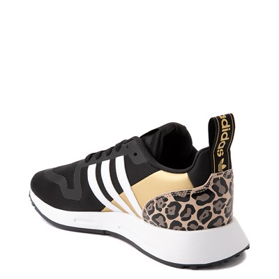 Alternate view of Womens adidas Multix Leopard Athletic Shoe - Black / Gold