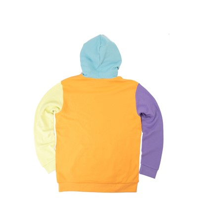 Alternate view of Mens adidas Blocked Trefoil Hoodie - Hazy Orange / Light Purple / Yellow Tint
