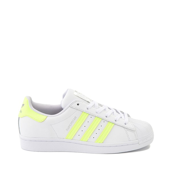 Main view of Womens adidas Superstar Athletic Shoe - White / Hi-Res Yellow