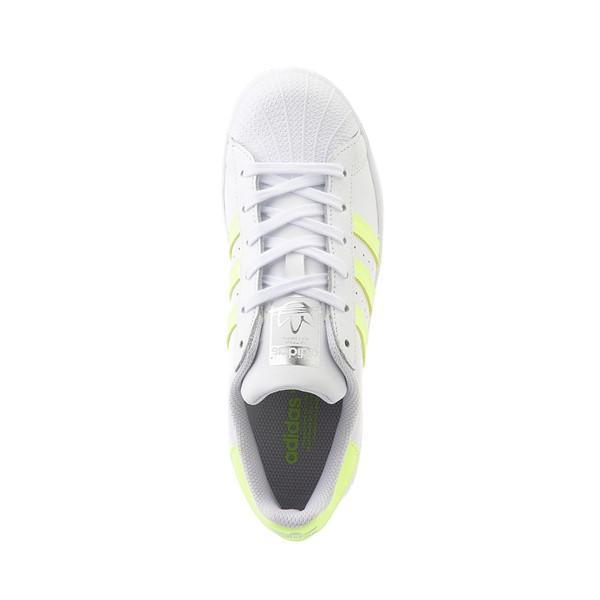 alternate view Womens adidas Superstar Athletic Shoe - White / Hi-Res YellowALT2