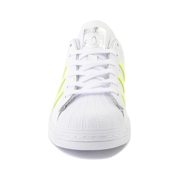 alternate view Womens adidas Superstar Athletic Shoe - White / Hi-Res YellowALT4