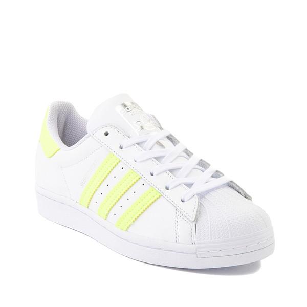 alternate view Womens adidas Superstar Athletic Shoe - White / Hi-Res YellowALT5