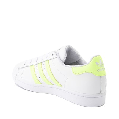Alternate view of Womens adidas Superstar Athletic Shoe - White / Hi-Res Yellow