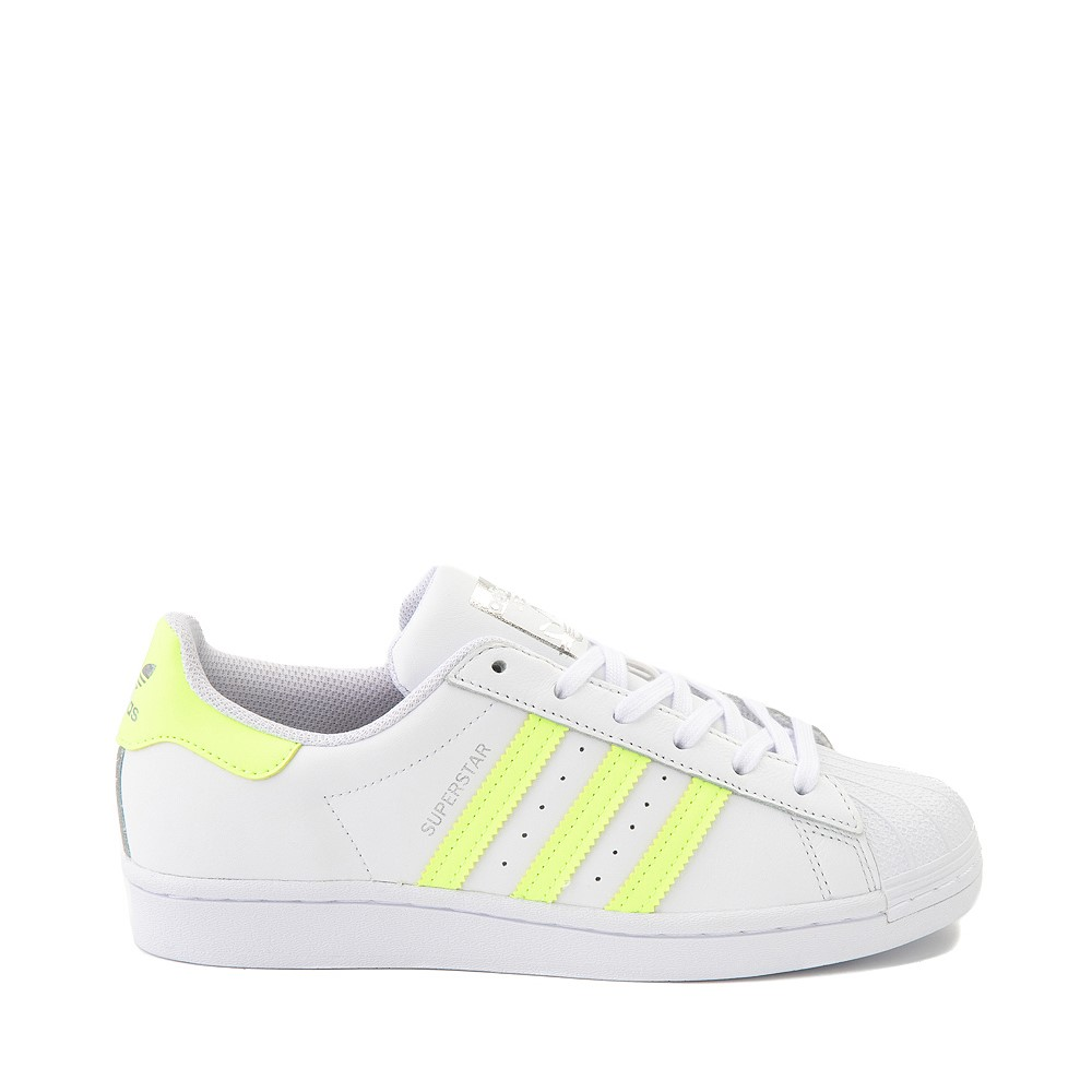 Womens adidas Superstar Athletic Shoe - White / Hi-Res Yellow