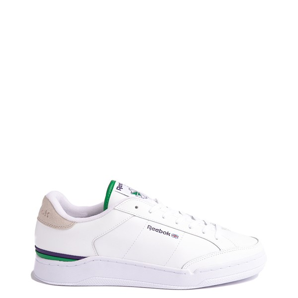 Main view of Mens Reebok AD Court Athletic Shoe - White / Sand Stone / Glen Green