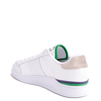 Alternate view of Mens Reebok AD Court Athletic Shoe - White / Sand Stone / Glen Green
