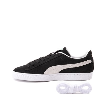Alternate view of Mens Puma Suede Athletic Shoe - Black
