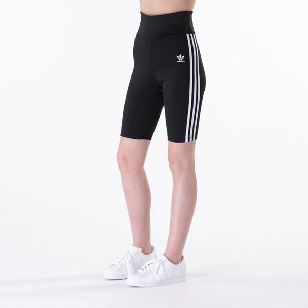 Womens adidas Adicolor Classic Primeblue High-Waisted Short Tights - Black