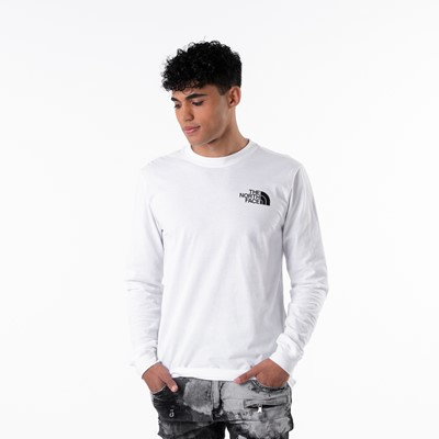 Alternate view of Mens The North Face Red Box Long Sleeve Tee - White