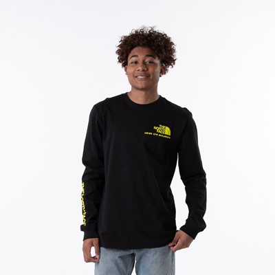 Alternate view of Mens The North Face Base Camp Long Sleeve Tee - Black