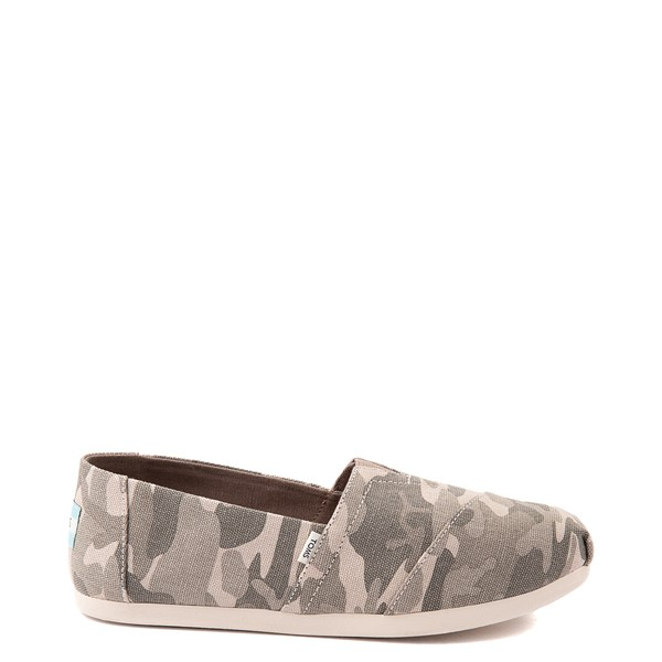 Main view of Womens TOMS Classic Slip On Casual Shoe - Camo