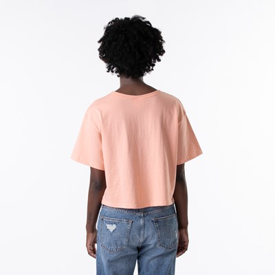 Alternate view of Womens Champion Cropped Tee - Peach