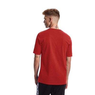 Alternate view of Mens Champion Heritage Tee - Team Red