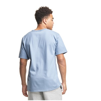 Alternate view of Mens Champion Heritage Script Tee - Pale Blue