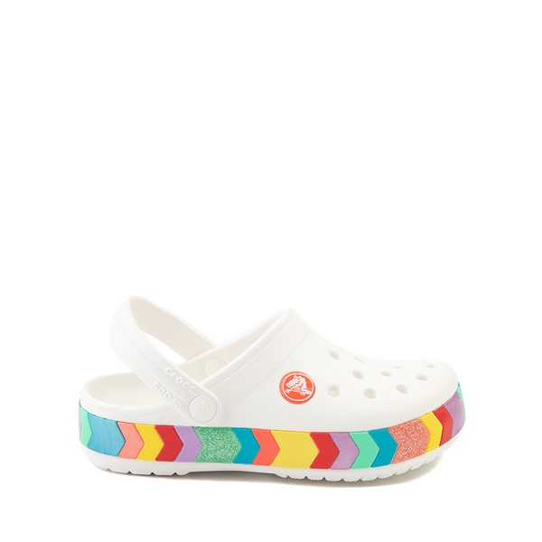 Main view of Crocs Crocband™ Chevron Clog - Little Kid / Big Kid - White / Multicolor