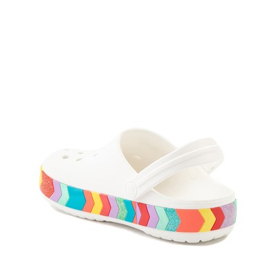 Alternate view of Crocs Crocband™ Chevron Clog - Little Kid / Big Kid - White / Multicolor