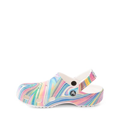 Alternate view of Crocs Classic Clog - Little Kid / Big Kid - White / Marbled Pastel Multicolor