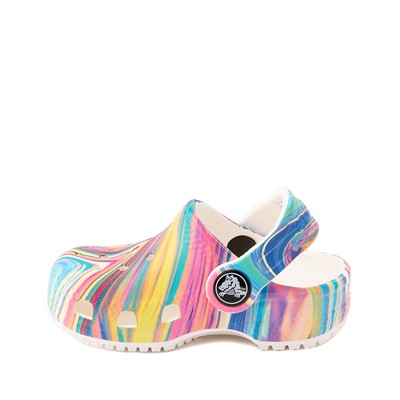 Alternate view of Crocs Classic Clog - Baby / Toddler / Little Kid - White / Marbled Pastel Multicolor