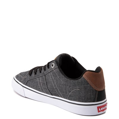 Alternate view of Mens Levi's Turner Chambray Casual Shoe - Black