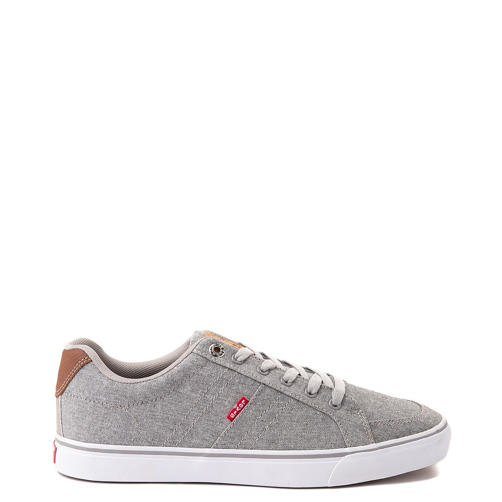 Mens Levi's Turner Chambray Casual Shoe - Grey