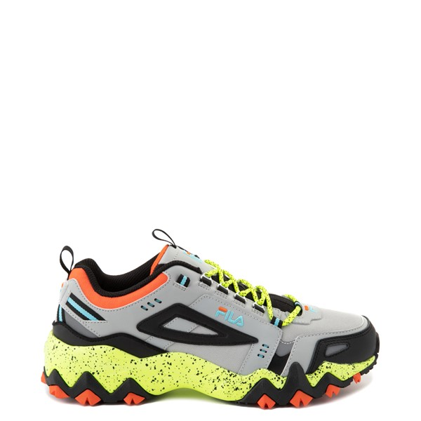 Main view of Mens Fila Oakmont Athletic Shoe - Grey / Yellow / Orange / Blue