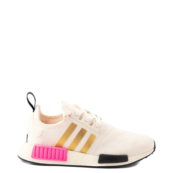 Main view of Womens adidas NMD R1 Athletic Shoe - Cream / White / Screaming Pink