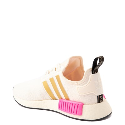 Alternate view of Womens adidas NMD R1 Athletic Shoe - Cream / White / Screaming Pink