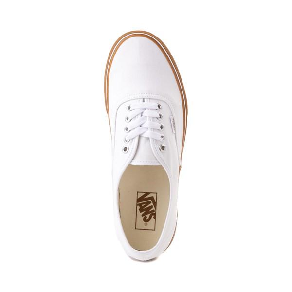 alternate image alternate view Vans Authentic Skate Shoe - White / GumALT2